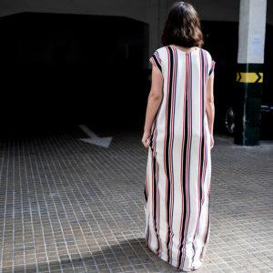 vestido largo rayas original