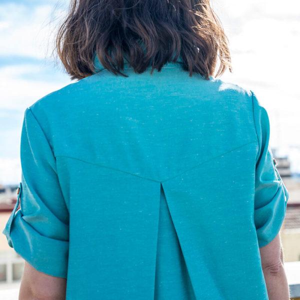 Vestido camisero espalda