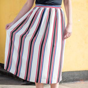 Falda midi rayas